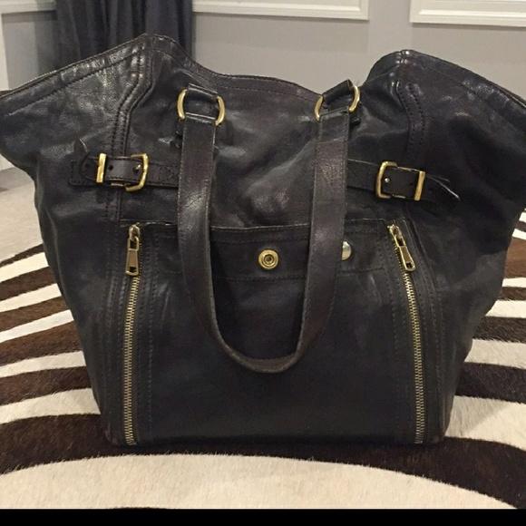 1fe16bd1b18 Authentic YSL Downtown Calfskin Leather Bag. M_5b085f7c2ab8c57342a4ff8a